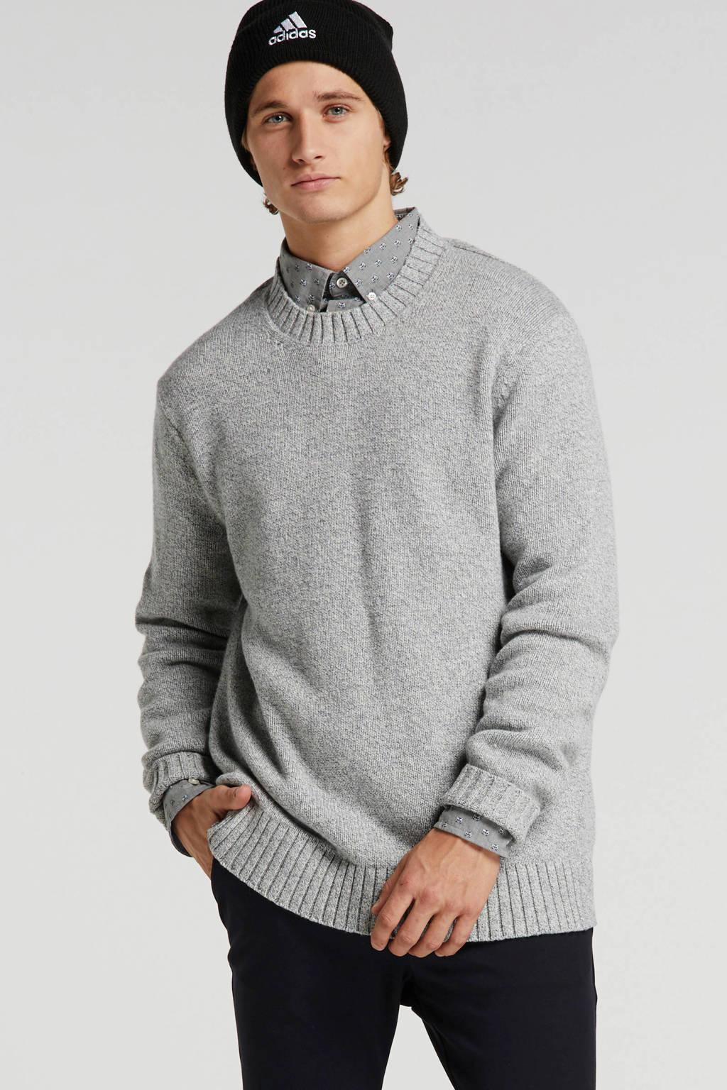 Banana Republic gemêleerde sweater grijs melange, Grijs melange