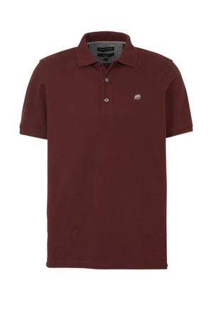 regular fit polo donkerrood
