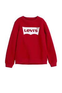 Levi's Kids sweater Batwing met logo rood, Rood