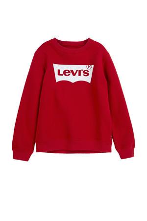 Levi's Kids sweater Batwing met logo rood