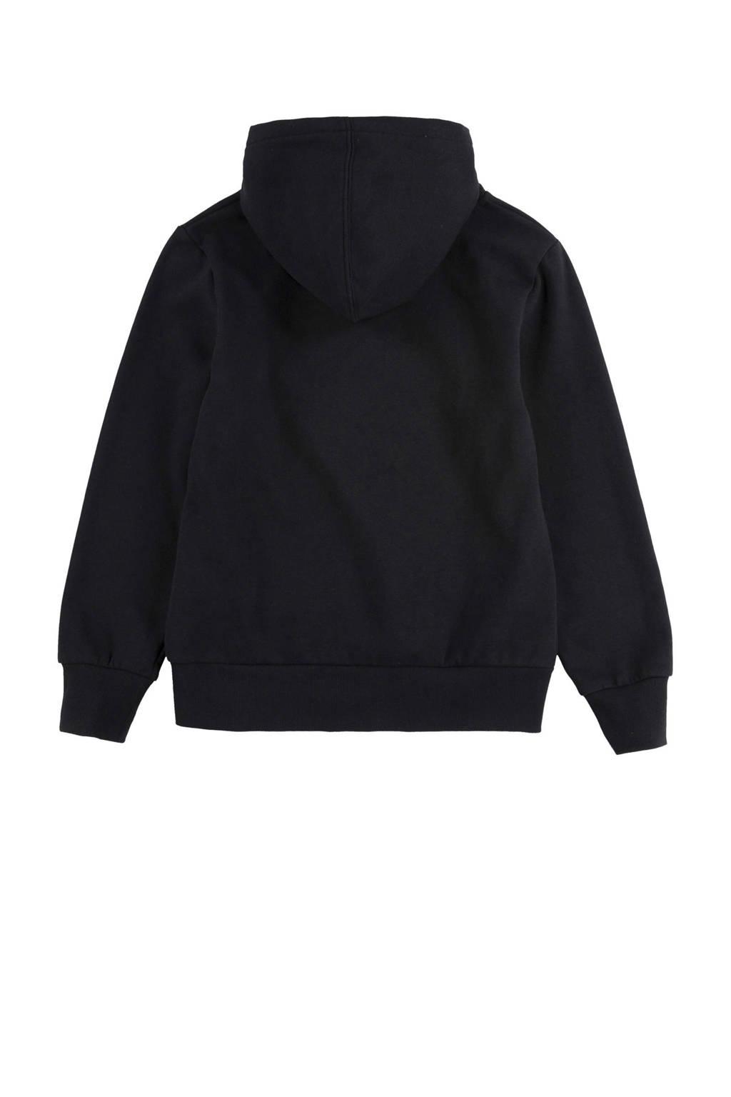 Levi's Kids hoodie Batwing met logo zwart/zilver, Zwart/zilver