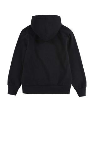 Kids hoodie Batwing met logo zwart/zilver