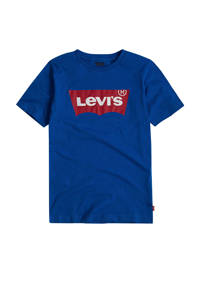 Levi's Kids T-shirt Batwing met logo blauw, Blauw
