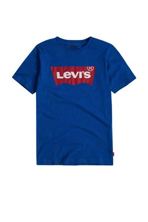 Kids T-shirt Batwing met logo blauw