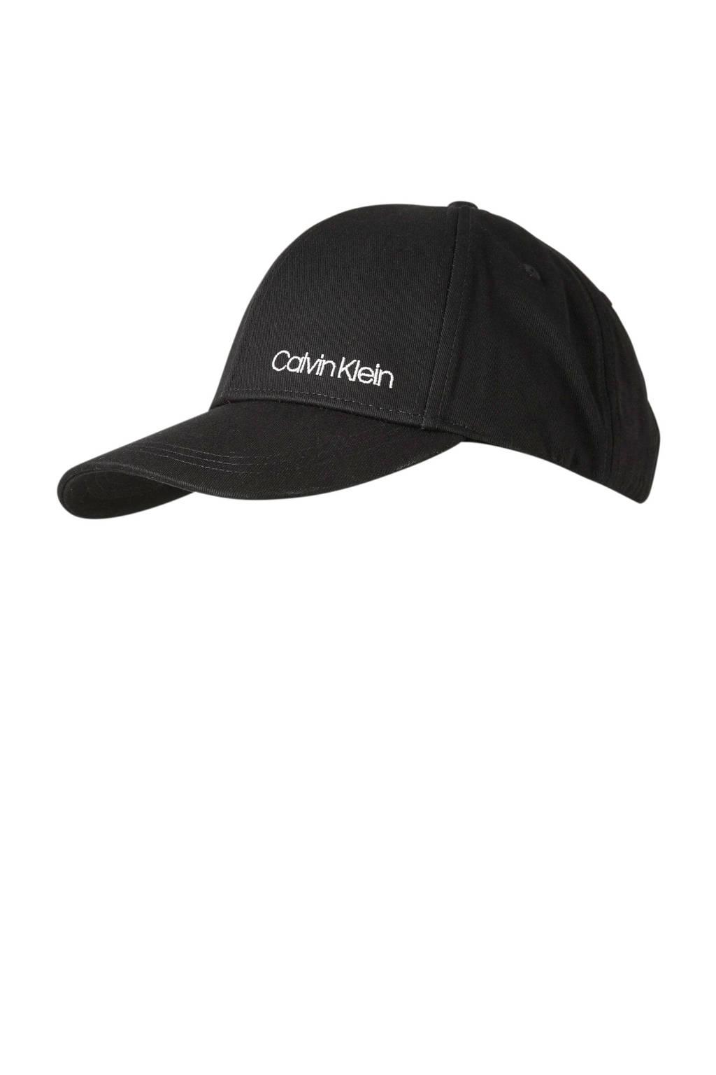 CALVIN KLEIN pet Side Logo zwart, Zwart/wit