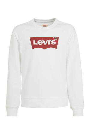 Levi's Kids Levi's Kids sweater Batwing met logo wit/rood