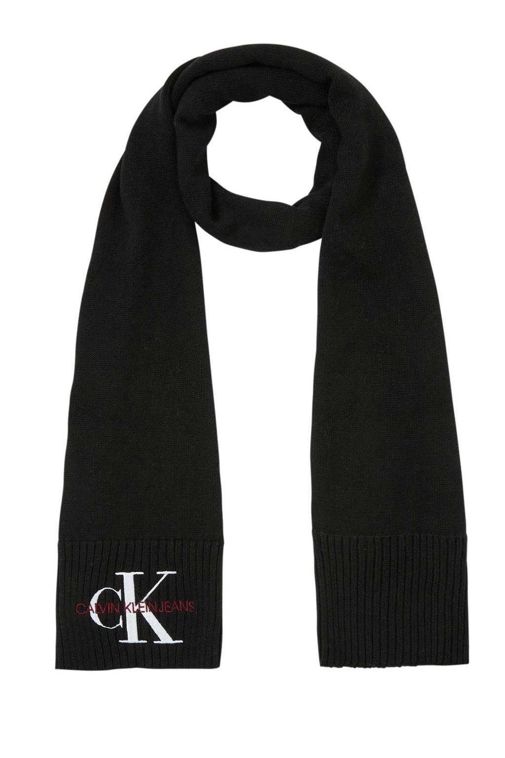 CALVIN KLEIN JEANS sjaal J Basic zwart, Zwart