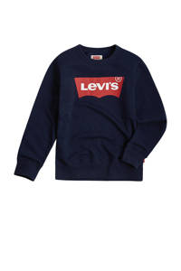 Levi's Kids sweater Batwing met logo donkerblauw, Donkerblauw