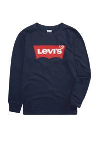 Levi's Kids longsleeve Batwing met logo donkerblauw, Donkerblauw