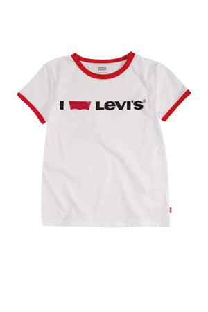 Levi's Kids T-shirt Batwing met logo wit