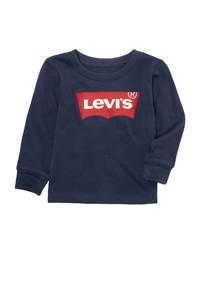 Levi's Kids baby longsleeve Batwing met logo donkerblauw, Donkerblauw