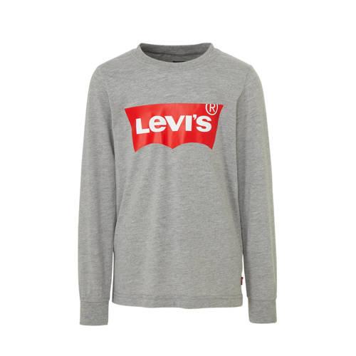 Levi's Kids longsleeve Batwing met logo grijs mela