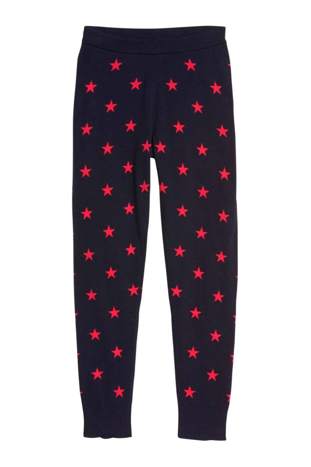 GAP legging met sterren donkerblauw/roze, Donkerblauw/roze