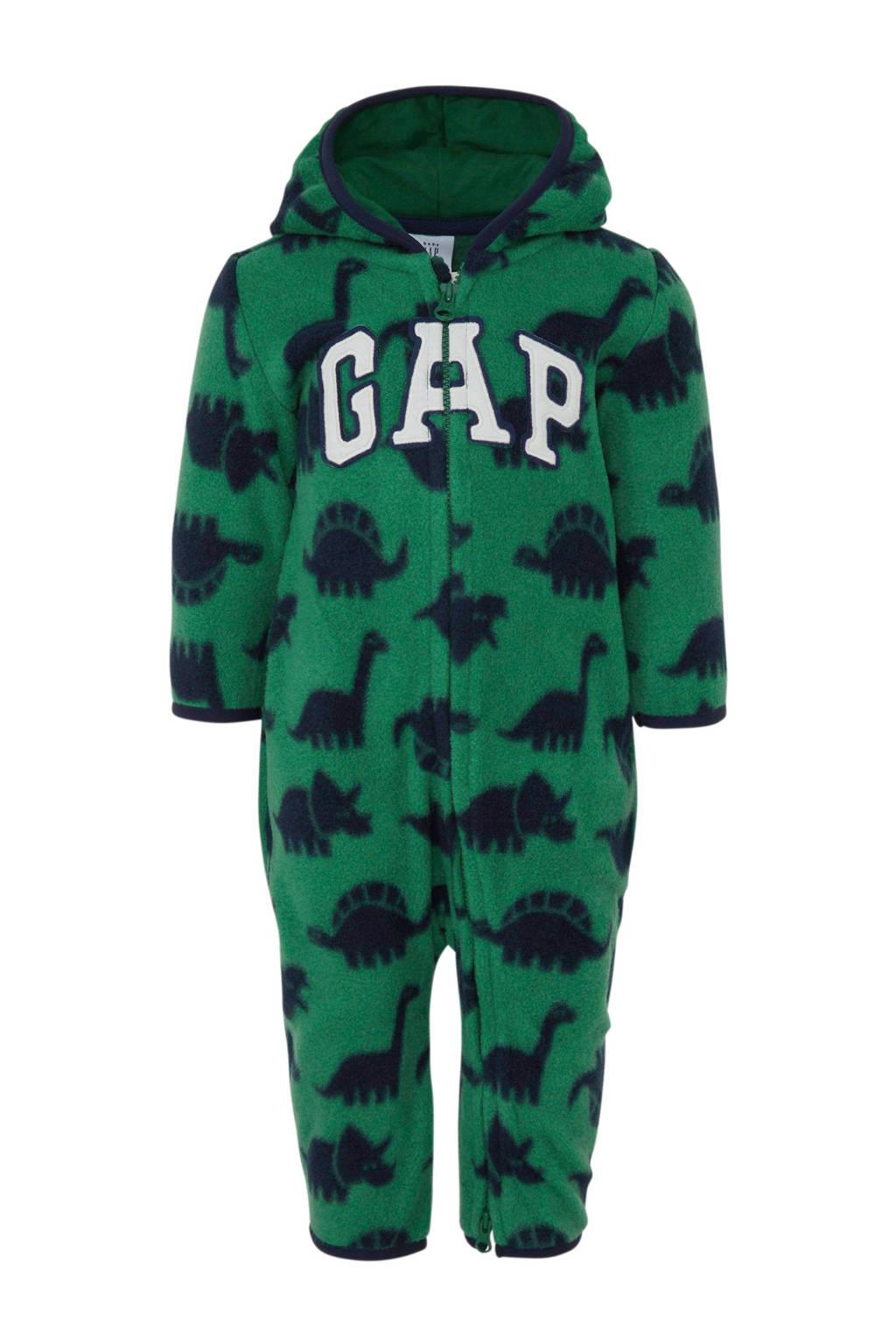 GAP baby fleece boxpak met all over print en 3D applicatie groen, Groen