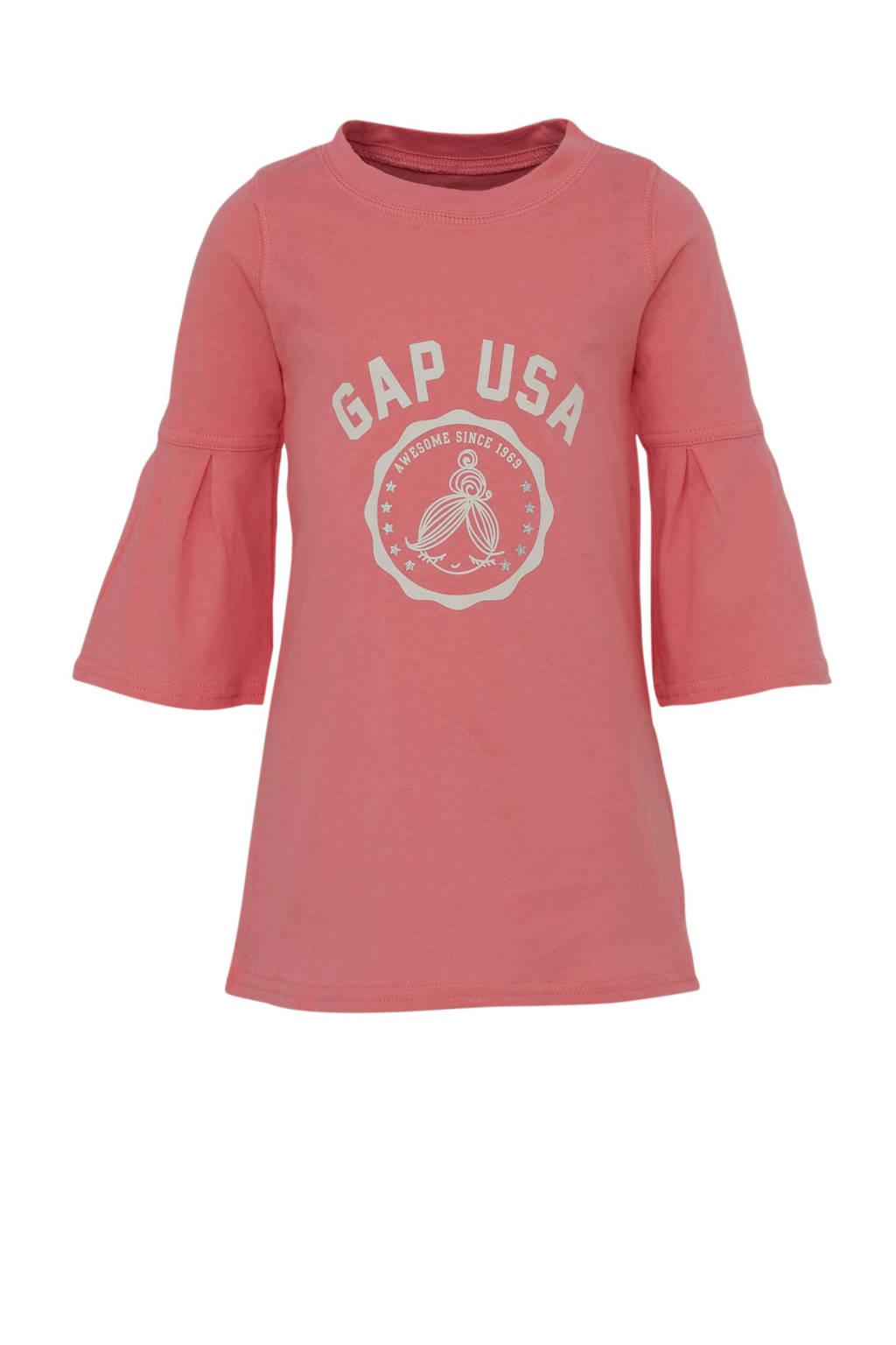 GAP jersey jurk met logo roze, Roze