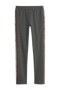 GAP legging met zijstreep en pailletten grijs, Grijs