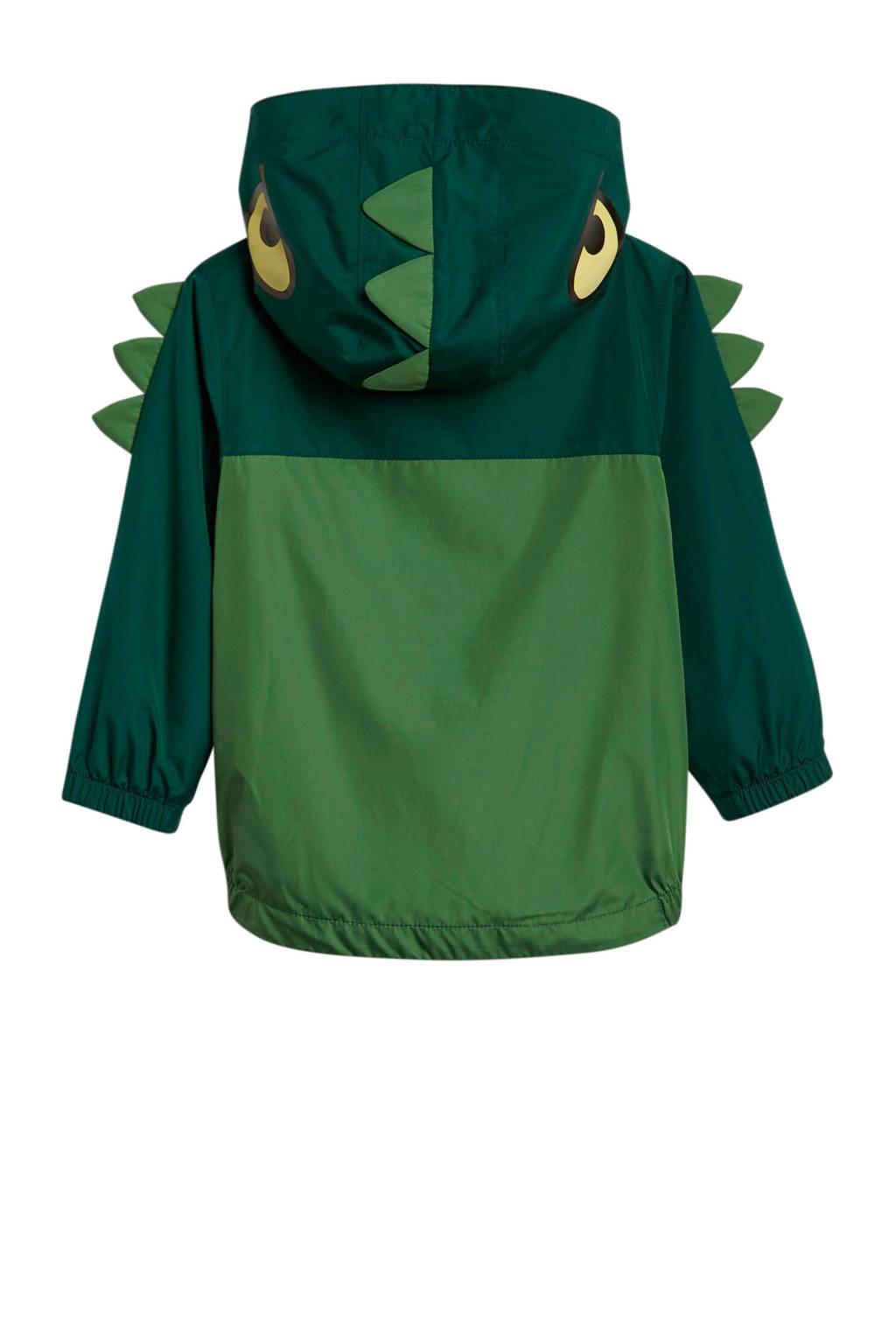 GAP tussenjas met all over print en 3D applicatie groen, Groen