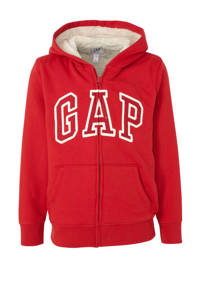 GAP borgvest met logo en borduursels rood/wit, Rood/wit