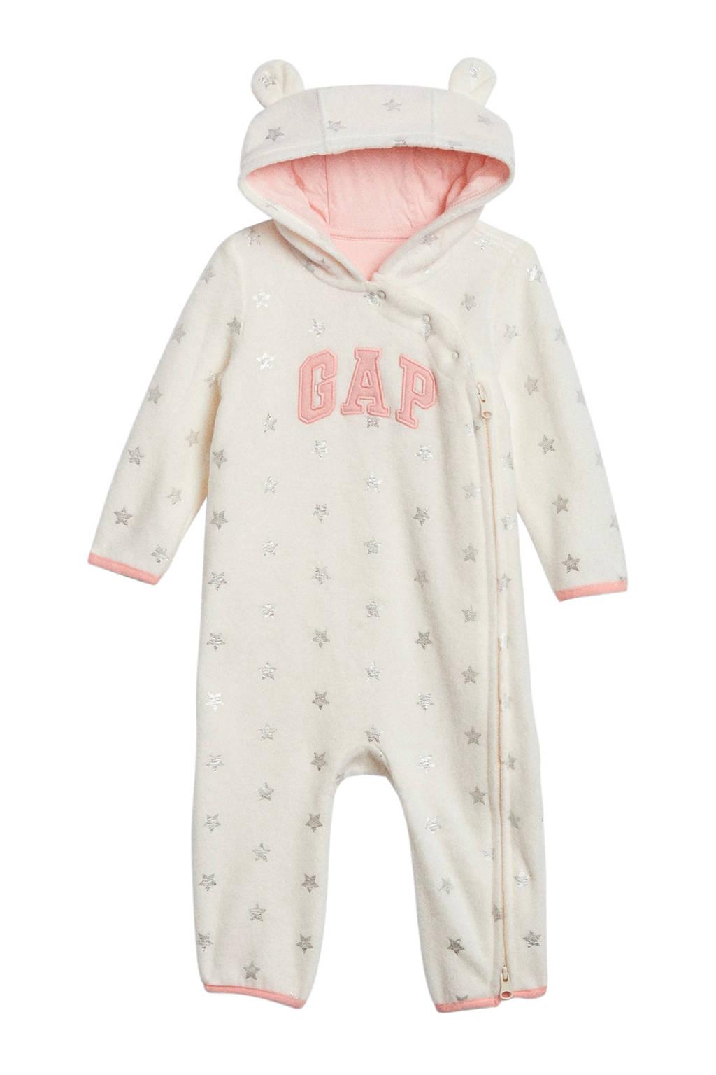 GAP baby fleece boxpak met sterren en 3D applicatie ecru, Ecru