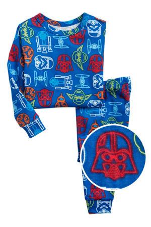 pyjama all over print blauw