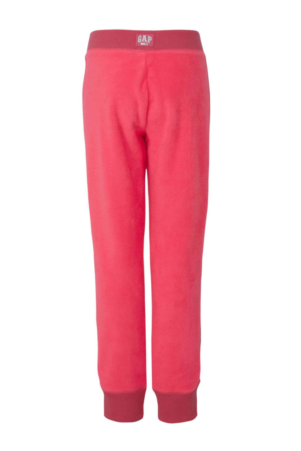 GAP fleece joggingbroek met zijstreep roze, Roze
