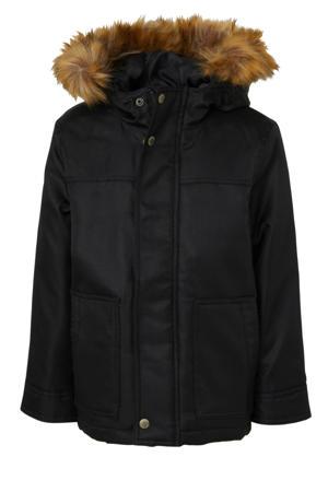 parka winterjas zwart