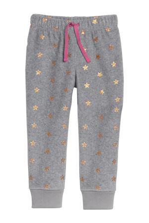 pyjamabroek met sterren grijs/goud