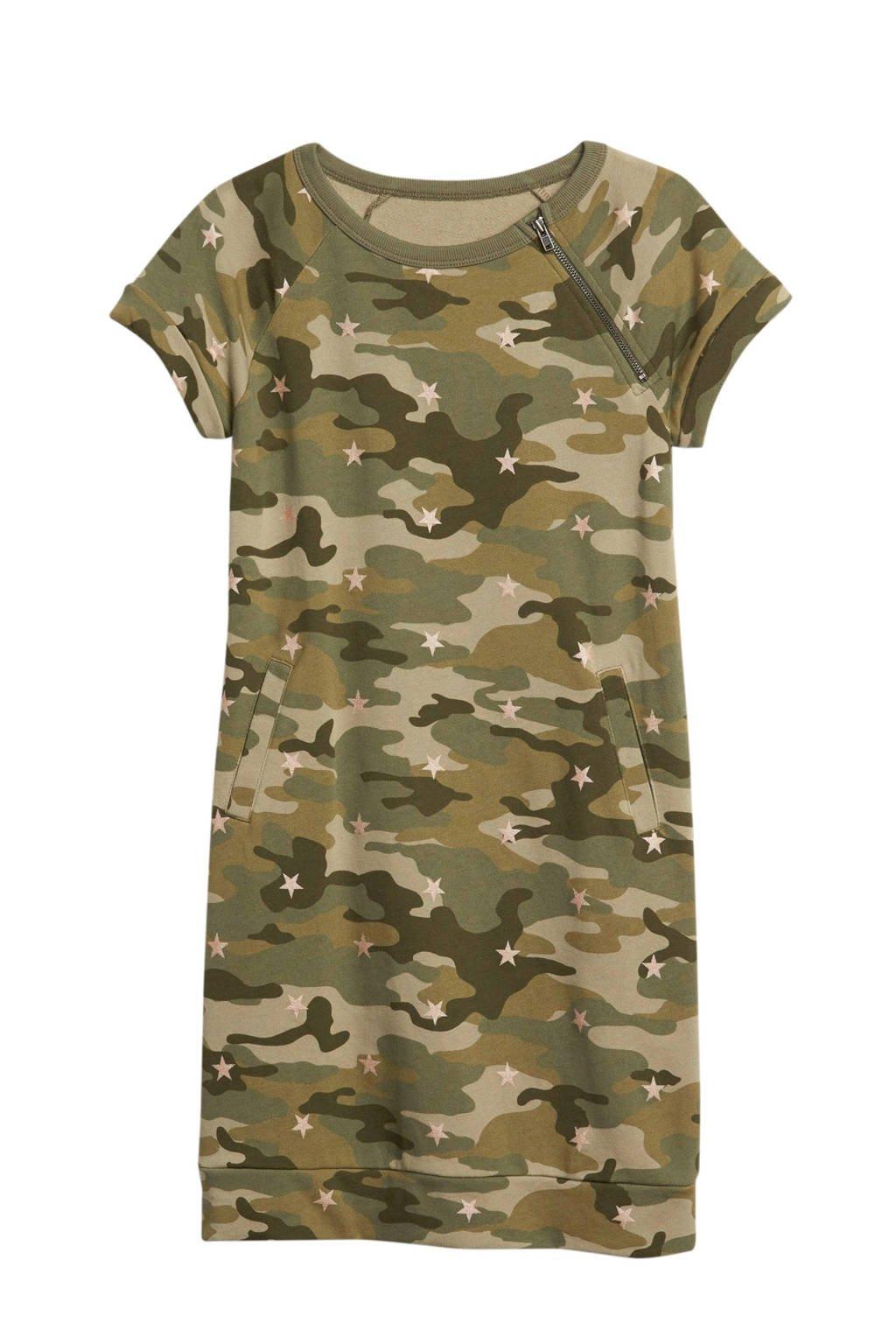 GAP sweatjurk met camouflageprint kaki, Kaki