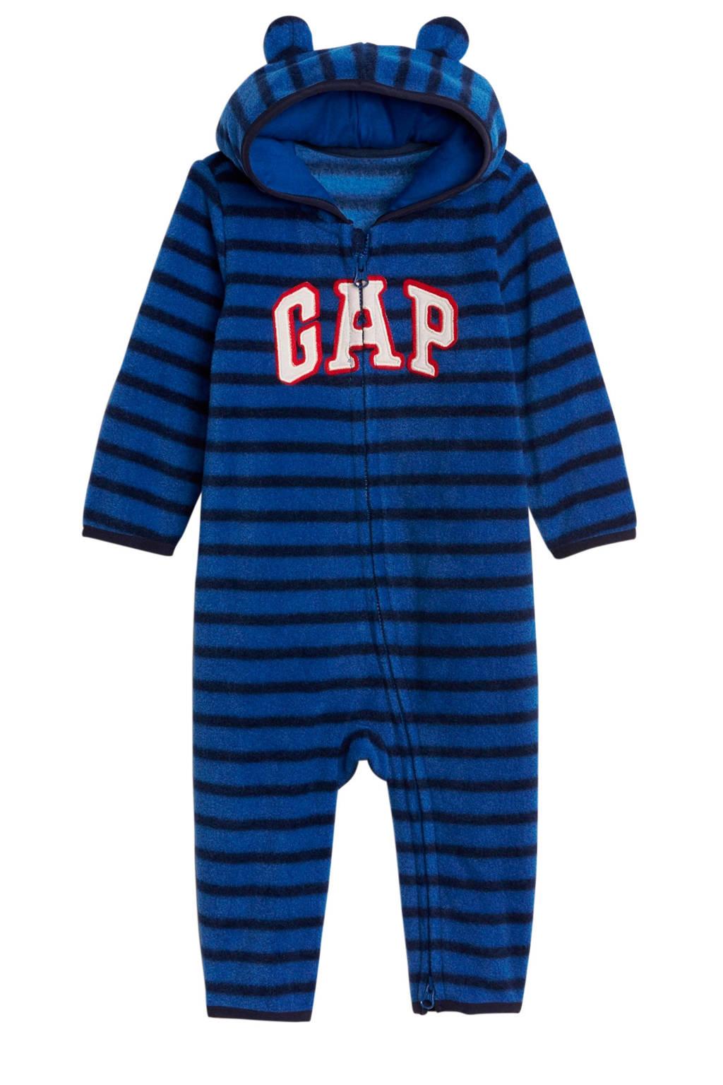 GAP baby gestreept fleece boxpak blauw, Blauw