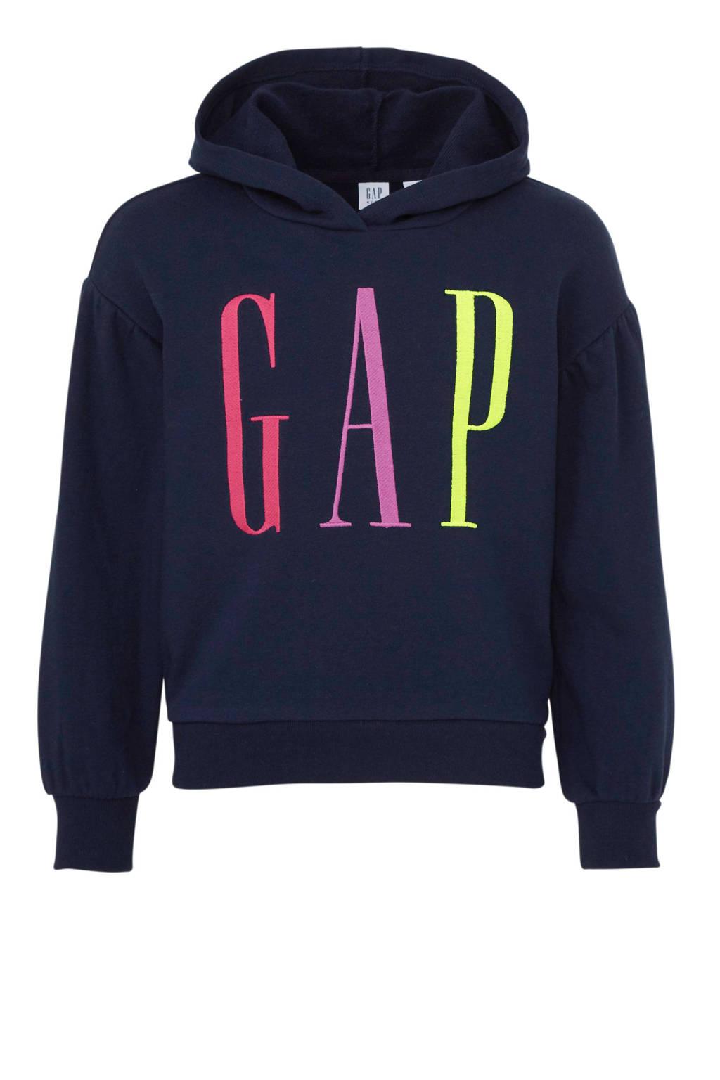 GAP hoodie met logo donkerblauw, Donkerblauw