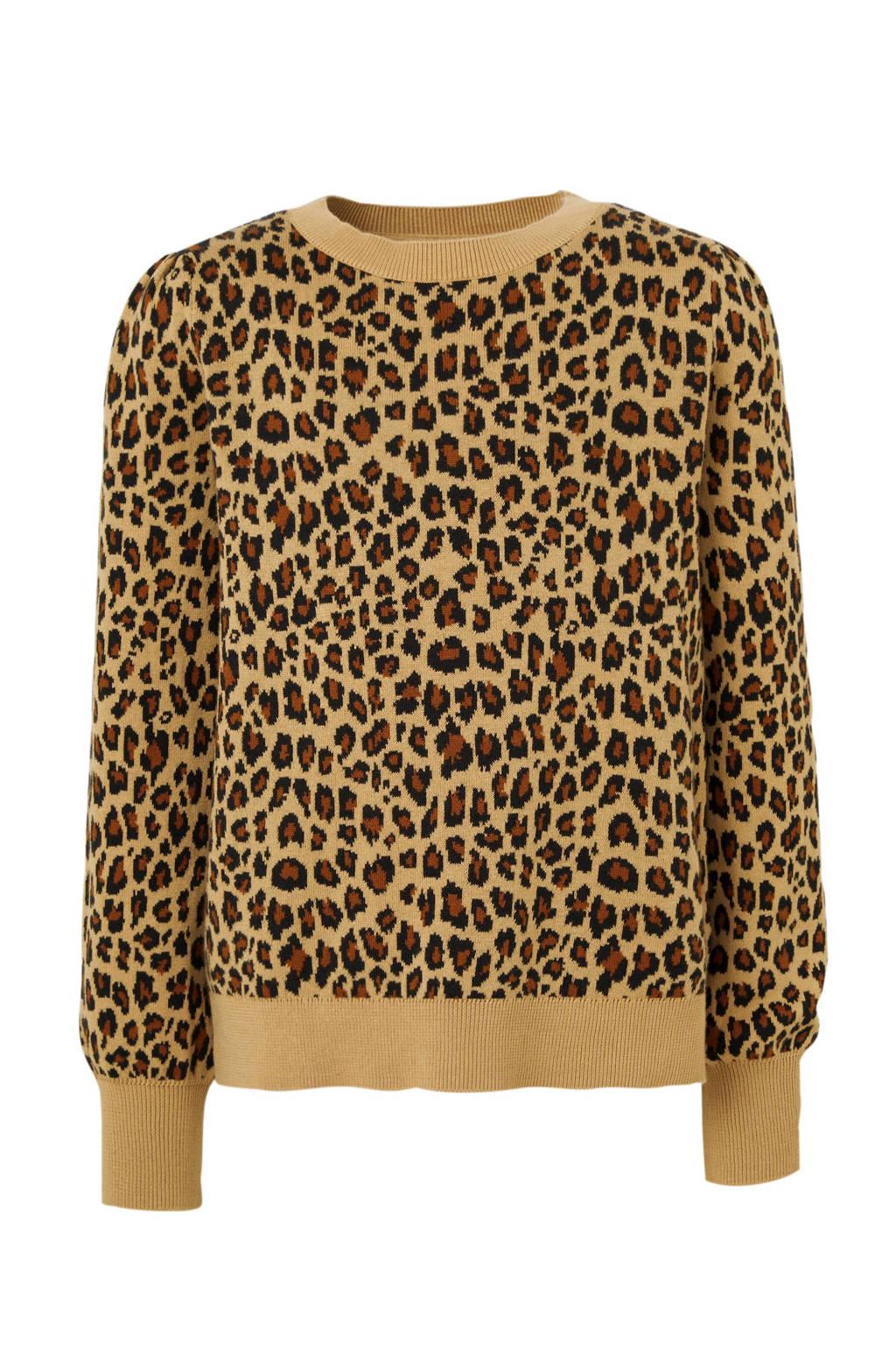 GAP trui met panterprint bruin/zwart, Bruin/zwart