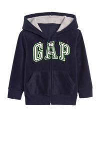GAP fleece vest met logo donkerblauw, Donkerblauw