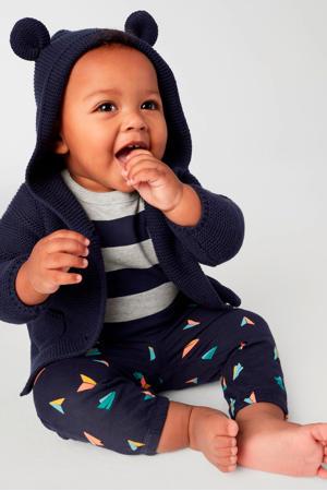 baby vest met 3D applicatie donkerblauw