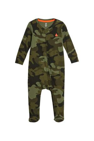 baby boxpak met camouflageprint groen/donkergroen