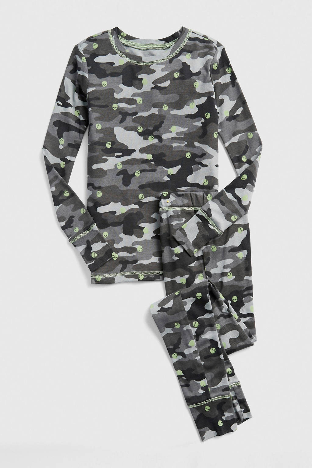 GAP   pyjama met glow in the dark print, Grijs