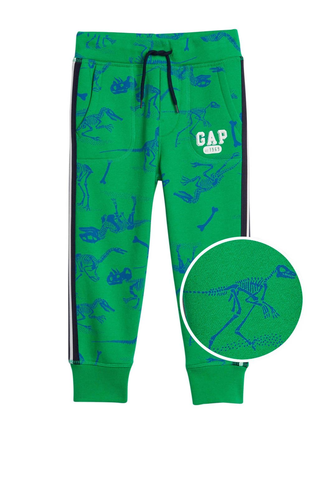 GAP   joggingbroek met zijstreep groen, Groen