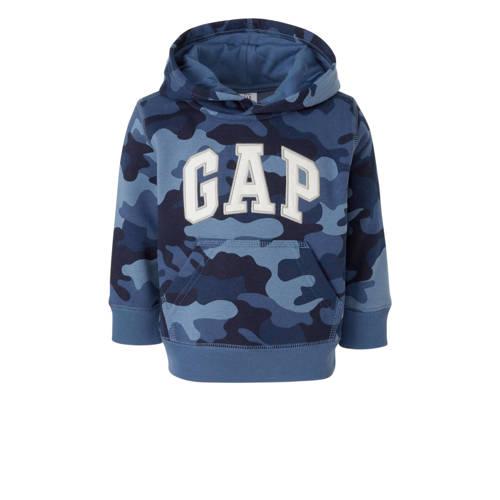 GAP hoodie met camouflageprint en borduursels blau