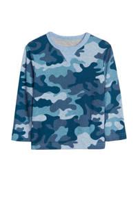 GAP longsleeve met camouflageprint blauw, Blauw