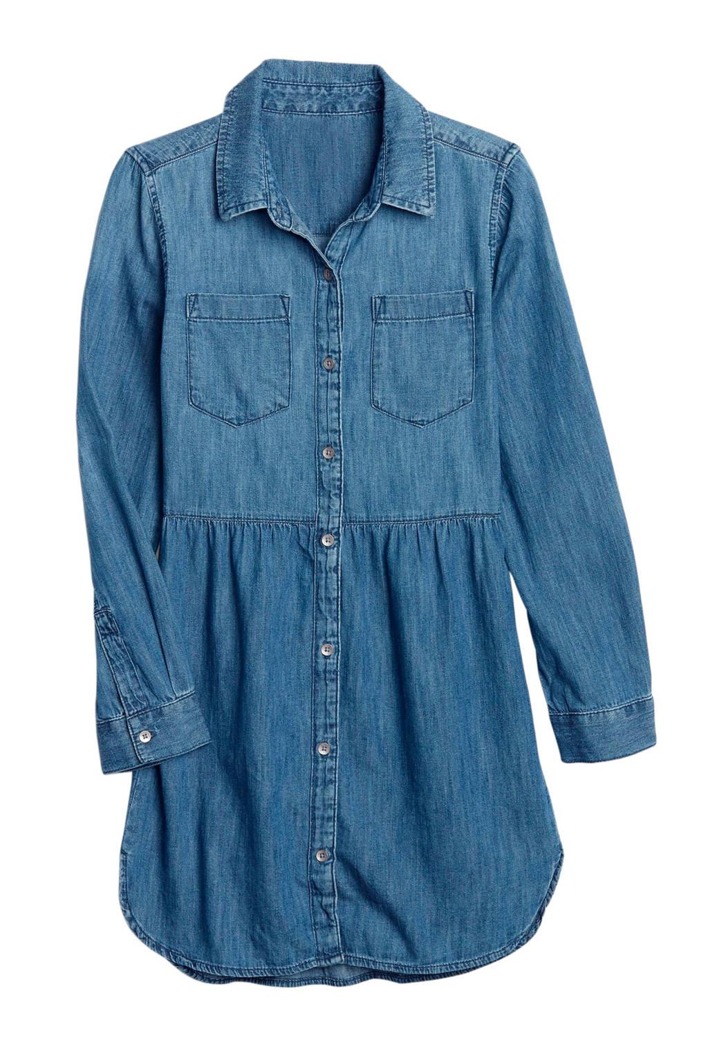 GAP spijker blousejurk blauw, Denim blauw