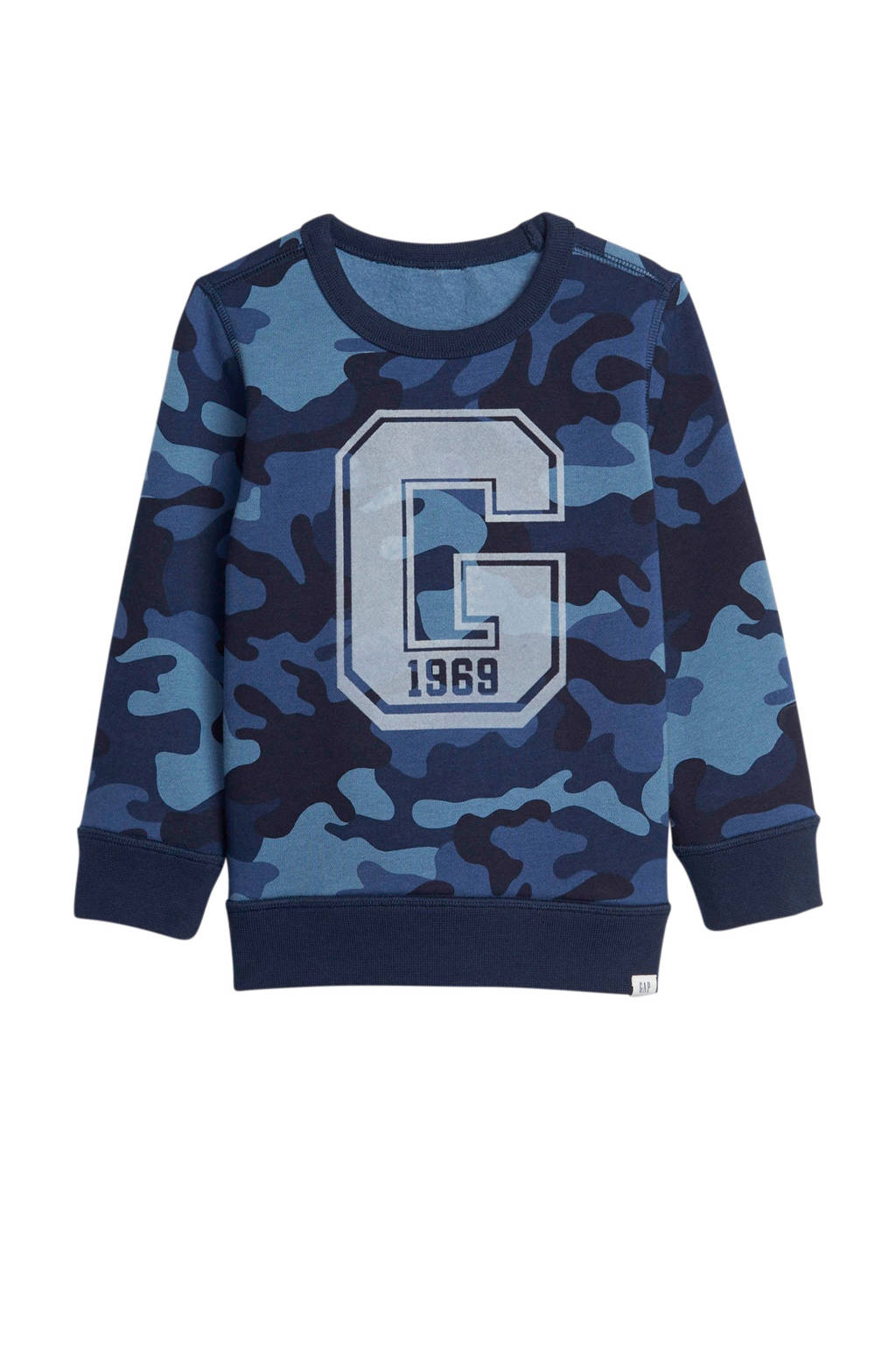GAP sweater met camouflageprint blauw, Blauw