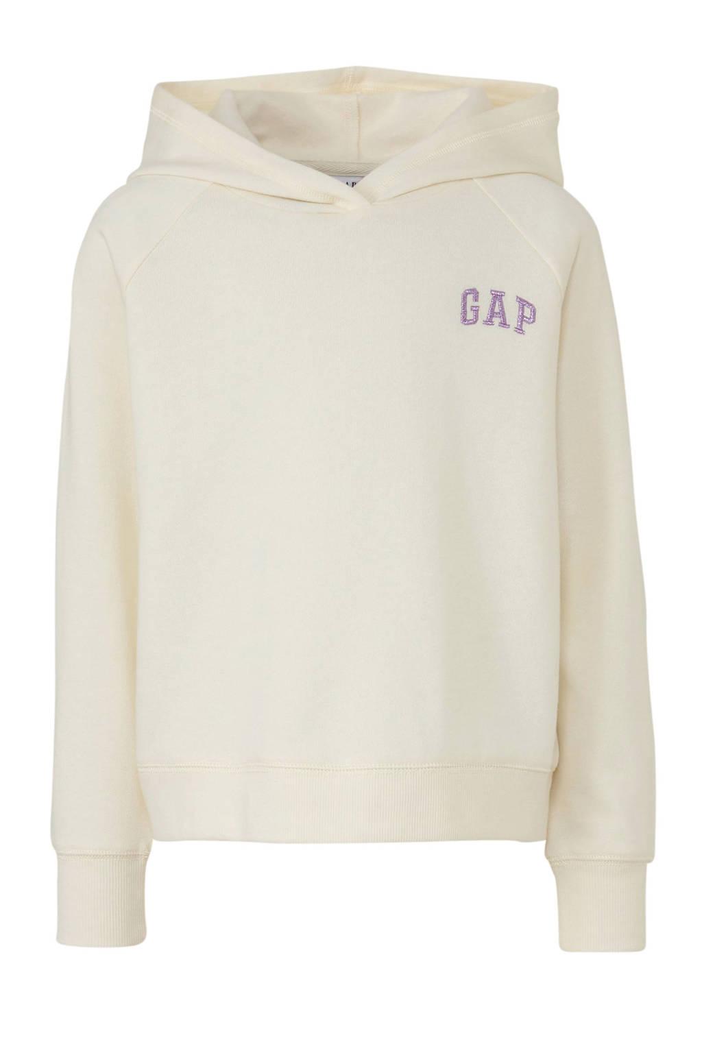 GAP hoodie met logo ecru, Ecru