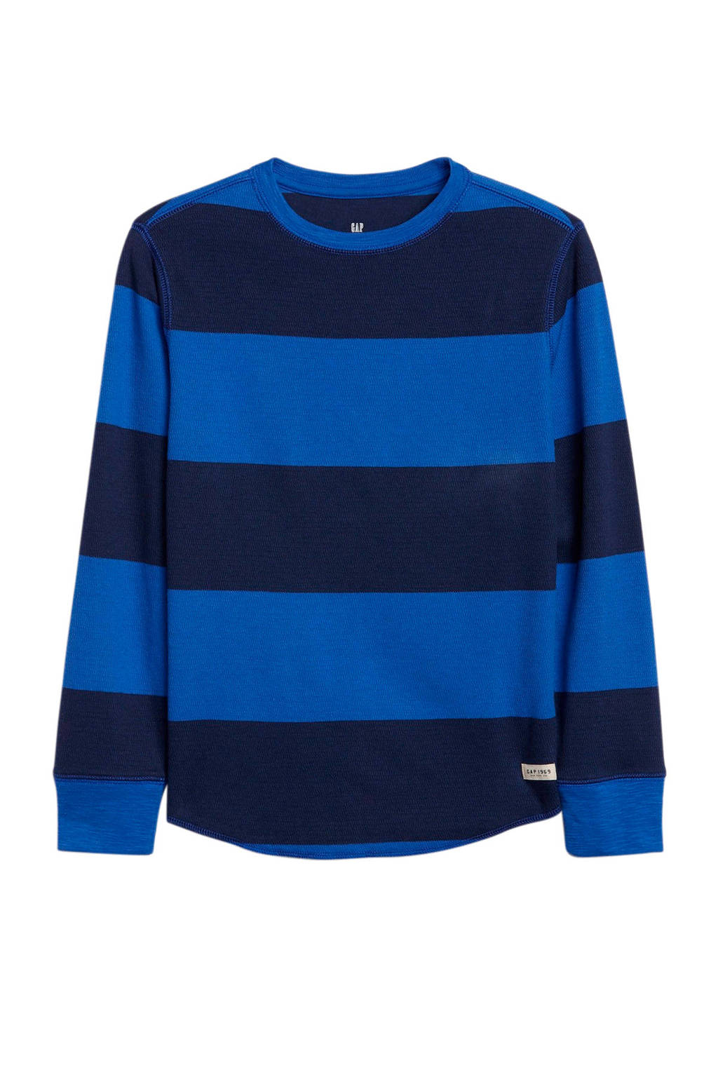 GAP gestreepte longsleeve blauw/donkerblauw, Blauw/donkerblauw