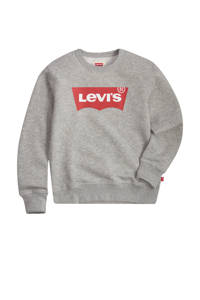Levi's Kids sweater Batwing met logo grijs melange, Grijs melange