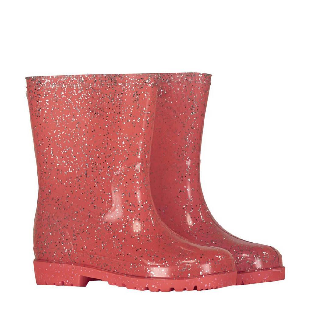 HEMA   regenlaarzen met glitters roze, Roze