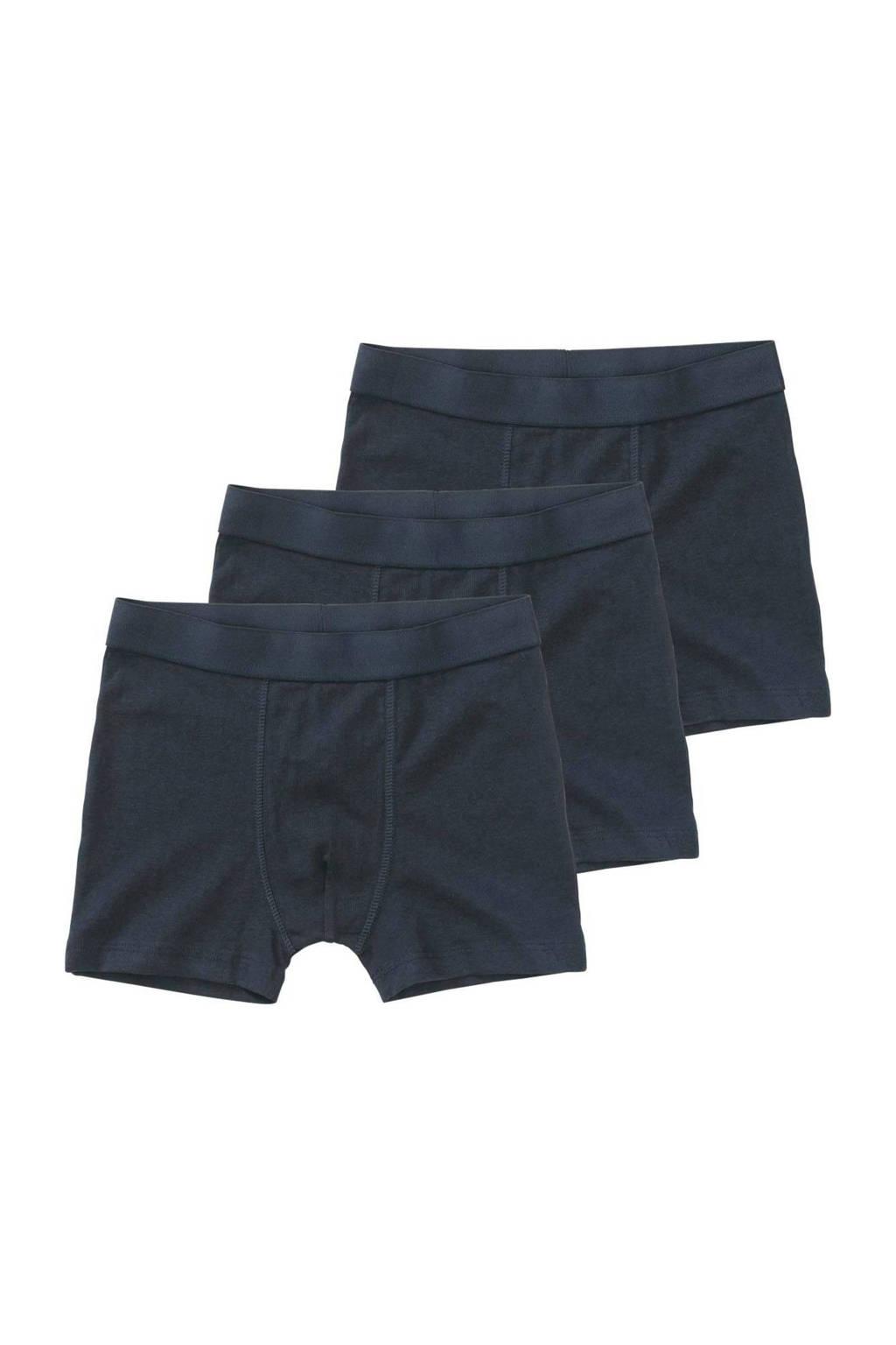 HEMA   boxershort - set van 3, Blauw