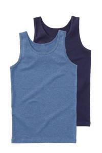 HEMA hemd - set van 2, Blauw/donkerblauw