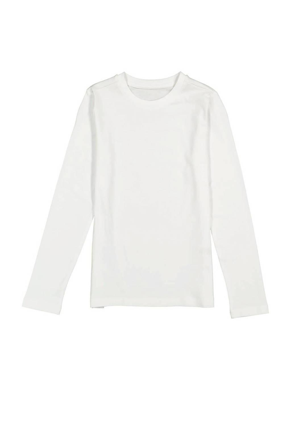 HEMA basic longsleeve wit, Lange mouw