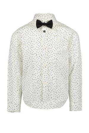 overhemd Boas met all over print wit/zwart