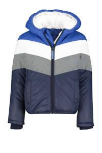 HEMA tussenjas John donkerblauw/grijs/wit, Donkerblauw