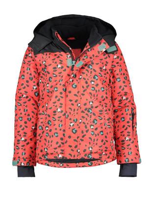 ski-jack met all over print roze